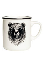 Tazza in porcellana - Bianco/orso - HOME | H&M IT 1